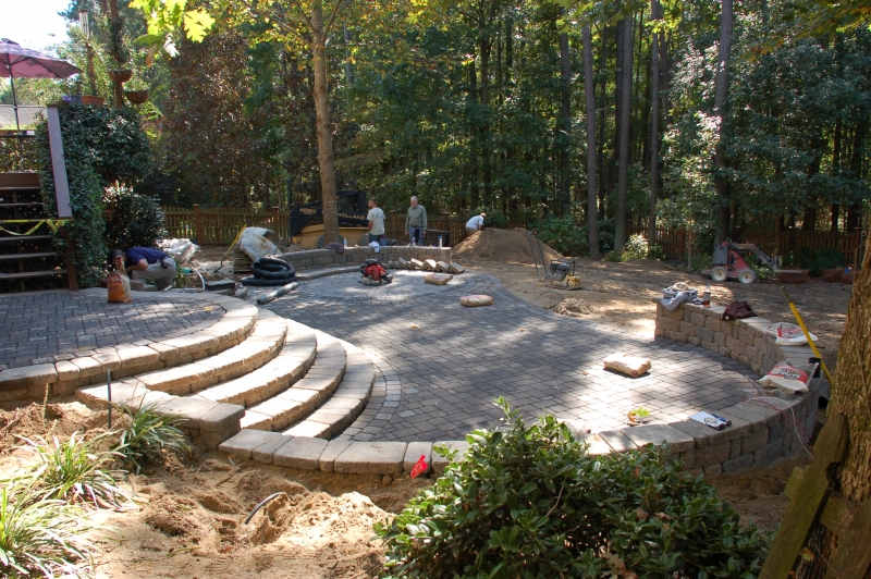 A Mutli Level And Multi Functional Paver Patio.